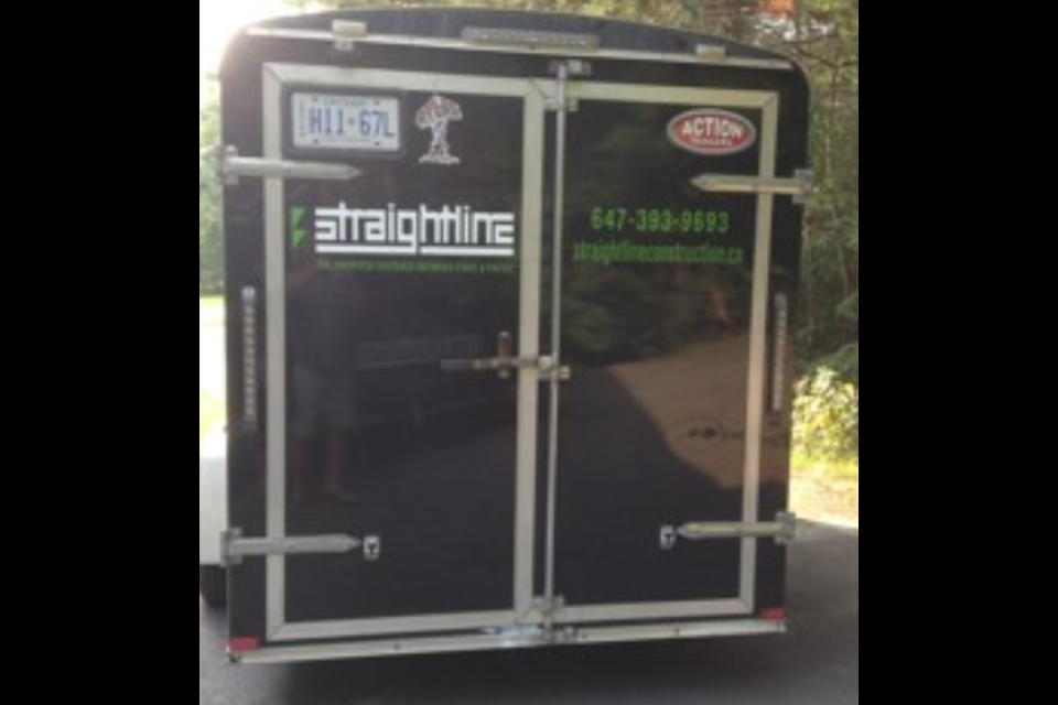 Barrie police have released these photos of a cargo trailer stolen from a Sunnidale Road driveway on July 26. Images supplied