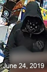 Barrie police have released several surveillance images from armed robberies that occurred on June 17 and June 24, 2019. Photo supplied