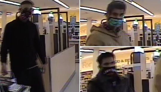 trio stealing from shoppers barrie