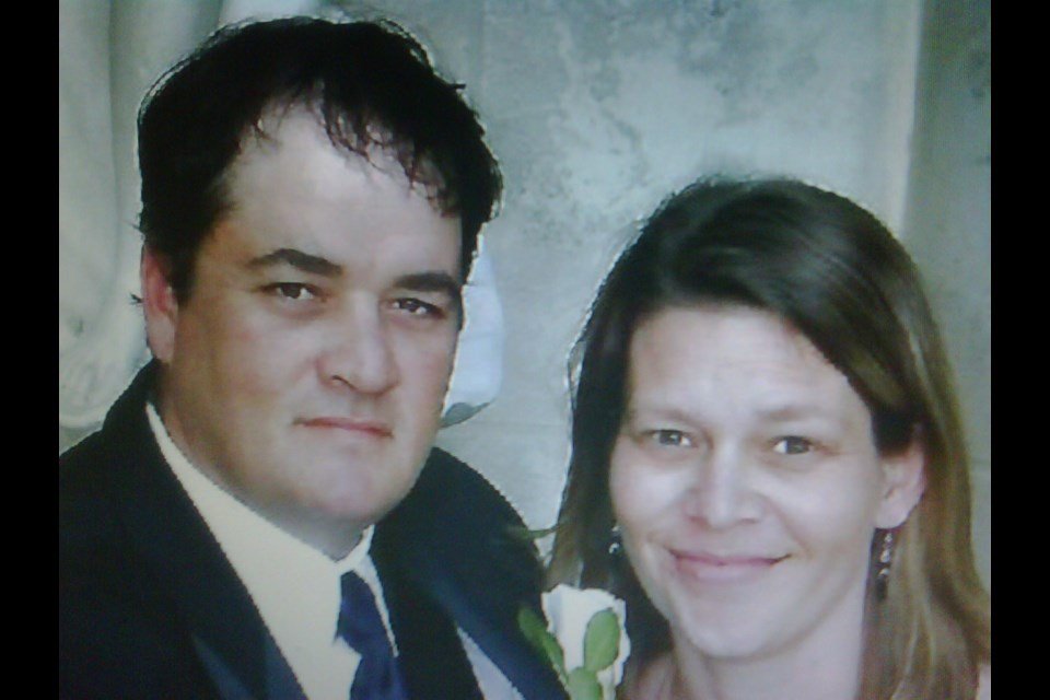 Geoff Gaston, pictured here with his wife Tanya, was struck and killed while painting parking lines in downtown Alliston on June 20, 2014.  Photo courtesy of Tanya Gaston