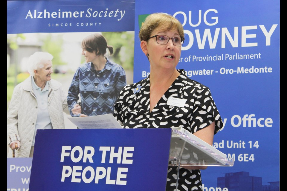 Debbie Islam, chief executive officer with the Alzheimer Society of Simcoe County, speaks at a funding announcement on Friday, Sept. 20, 2019. Raymond Bowe/BarrieToday