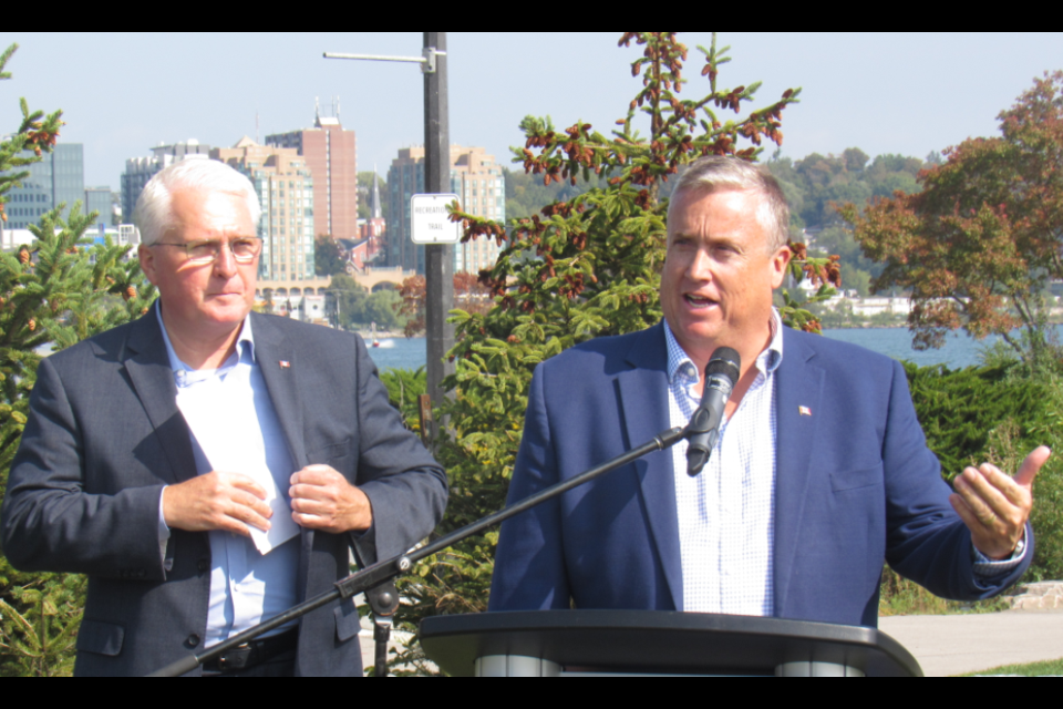 Barrie-Innisfil MP John Brassard (left) and Barrie-Springwater-Oro-Medonte MP Doug Shipley are shown in a file photo from September 2019. Shawn Gibson/BarrieToday