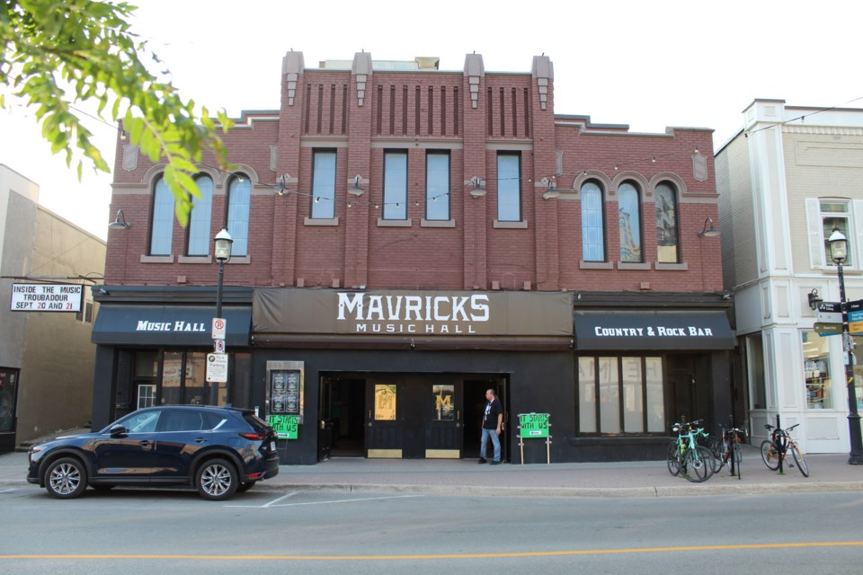 A shot of 46 Dunlop St. W. this past July before a Green Party rally, July 18, 2019 at Mavricks Music Hall in downtown Barrie. Raymond Bowe/BarrieToday