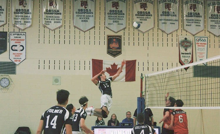 Cameron Chadwick, 18, capped off the season in late November by leading the St. Peter's Panthers senior boys to a bronze medal at the Ontario Federation of School Athletic Associations (OFSAA) Boys' AAA Volleyball Championships. Photo supplied