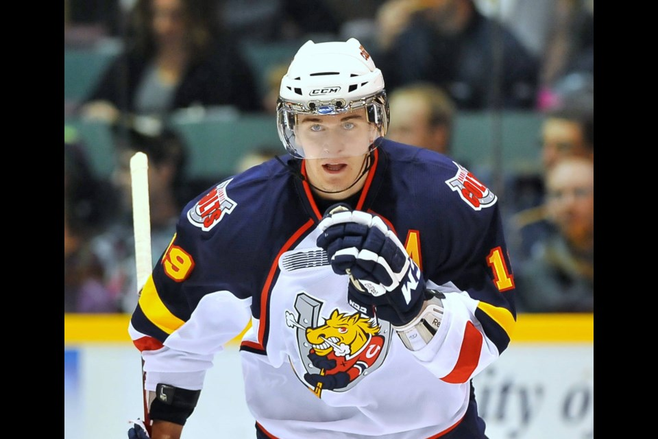 Former Barrie Colts star Mark Scheifele is shown in a photo from the 2011-12 OHL season. Photo courtesy of CHL Images.