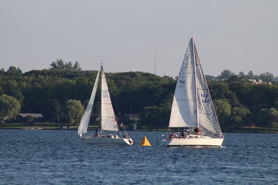 Barrie Yacht Club members hit the water for races every Wednesday night on Kempenfelt Bay. Raymond Bowe/BarrieToday