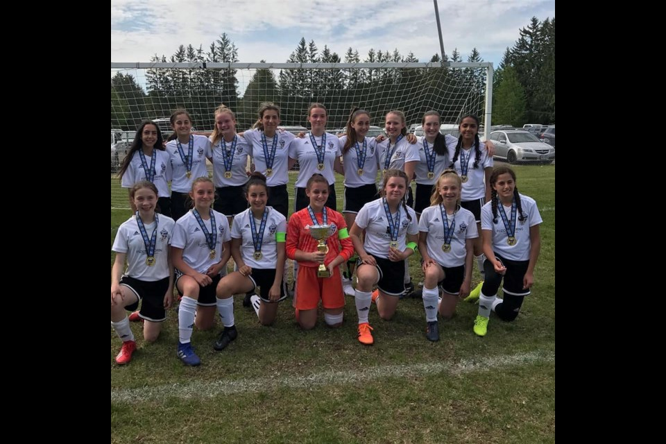 The U14 Girls team won their divison championship at the 2019 Spiritfest. Submitted photo