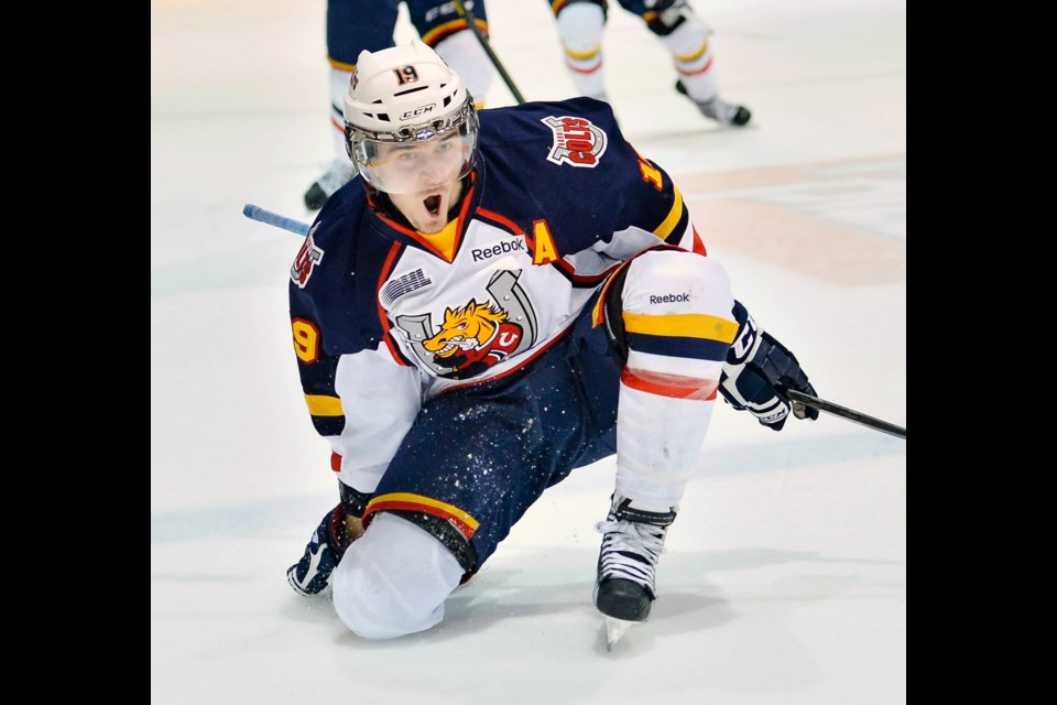 Mark Scheifele is shown during his playing days with the Barrie Colts. Photo courtesy of OHL Images