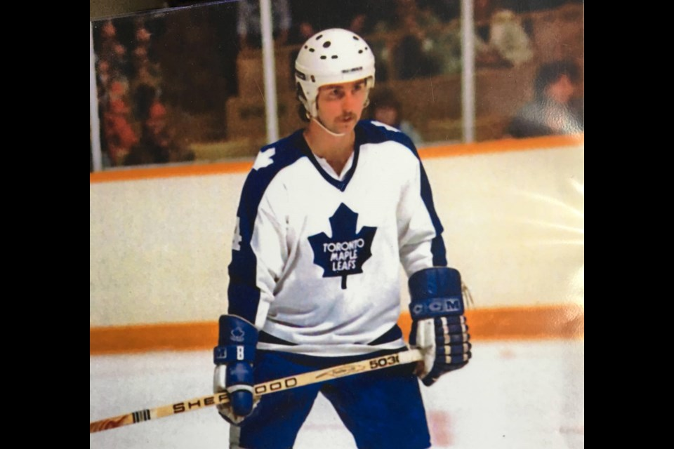 Defenceman Greg Hotham spent parts of three seasons with the Toronto Maple in the early 1980s.