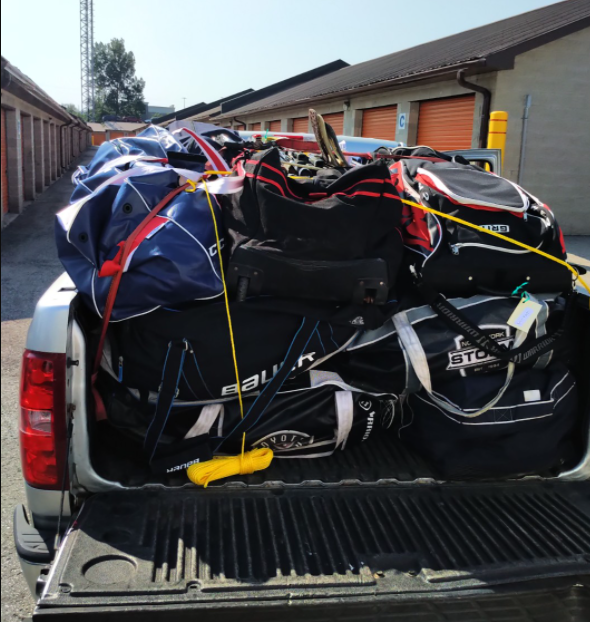 A pickup truck full of much-needed hockey equipment for Indigenous youth.