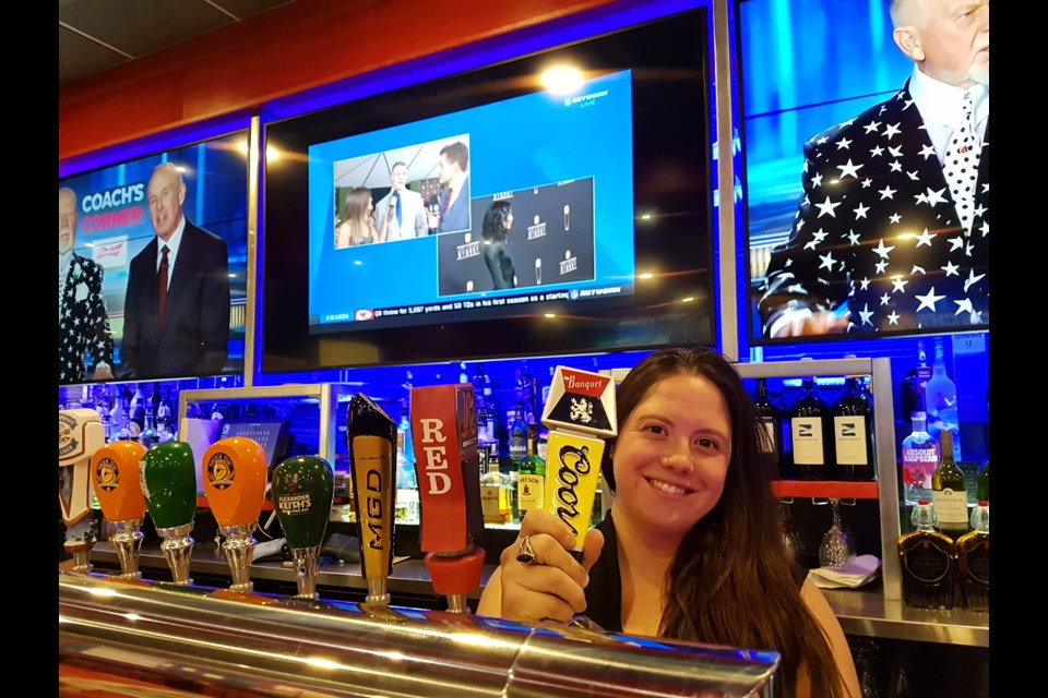 Chelsea Advent is getting ready for a big night at St. Louis Bar and Grill on Duckworth Street in Barrie. Shawn Gibson/BarrieToday