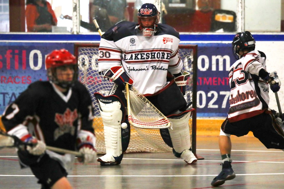 The Barrie Lakeshores lacrosse franchise, shown during a 2018 game in this file photo, has been contracted by the Ontario Junior 'A' Lacrosse League. Kevin Lamb for BarrieToday