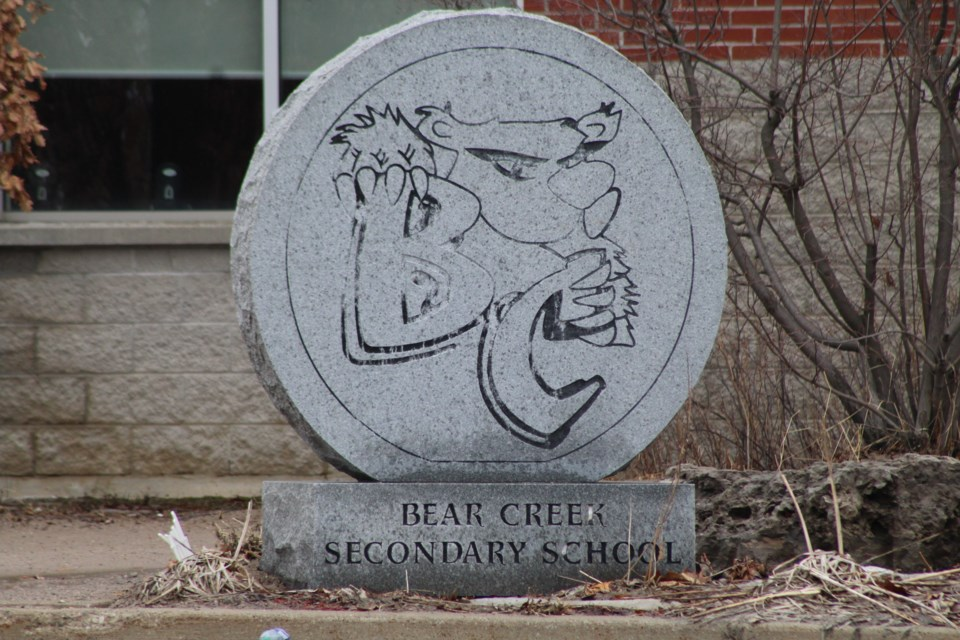 Bear Creek Secondary School in south-end Barrie is shown in a file photo. Raymond Bowe/BarrieToday