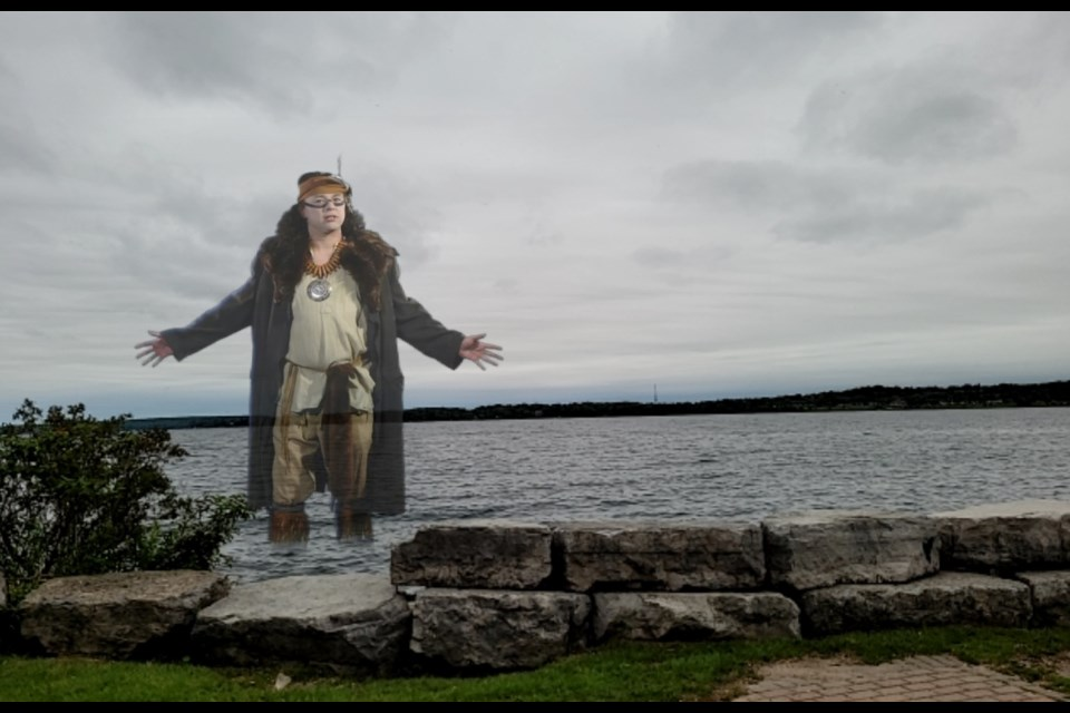 The ghost of Hector rises from Kempenfelt Bay in the latest production by Theatre By The Bay, The Ghost Watchers.