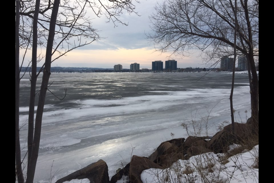 Sun looks pretty on the melting ice in this view from the North Shore Trail. Sue Sgambati/BarrieToday