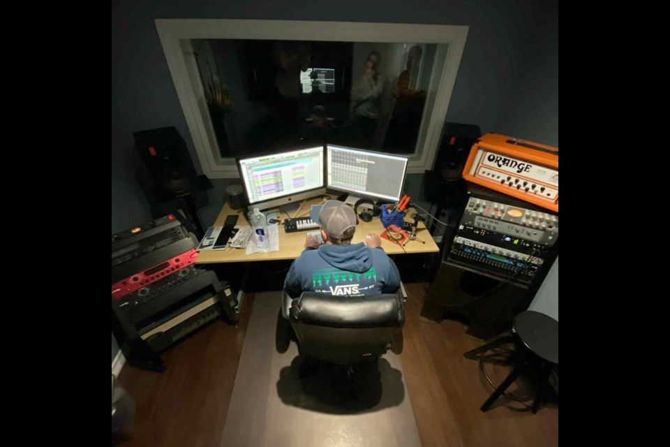 Jeff Wardell behind the scenes at Your Productions Studios. Photo submitted