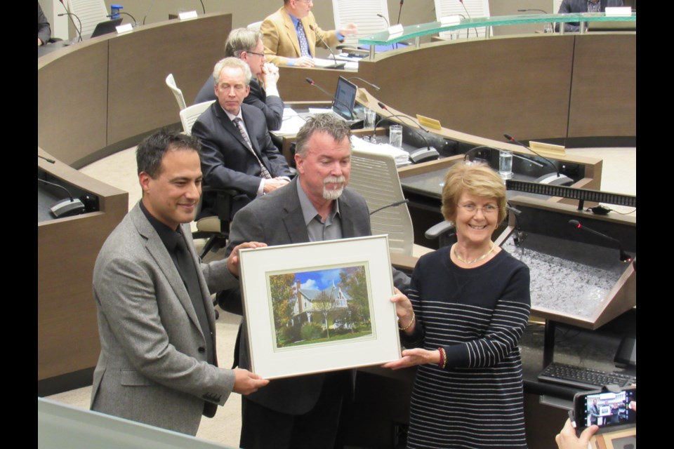 230 Kempenfelt Drive, award accepted on behalf of Carolyn Moran (right). Shawn Gibson for BarrieToday