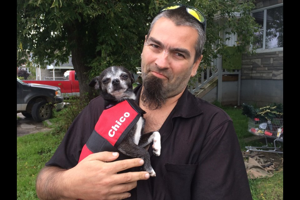 Leo Hansen says service dog helps him deal with PTSD and anxiety