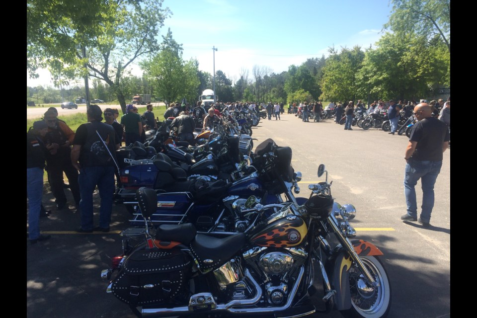 Nipissing TELUS Motorcycle Ride for Dad 10th anniversary