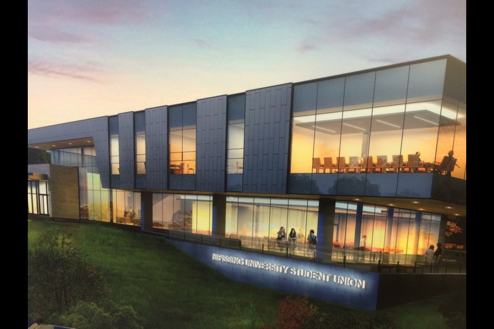 Site work is underway for construction of the $13 million Nipissing University Student Centre