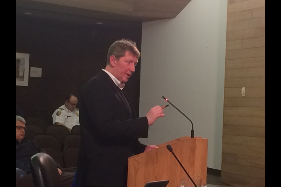 Jim Scott of Trace Planning and Design presents highlights of Active Transportation Master Plan to North Bay City Council