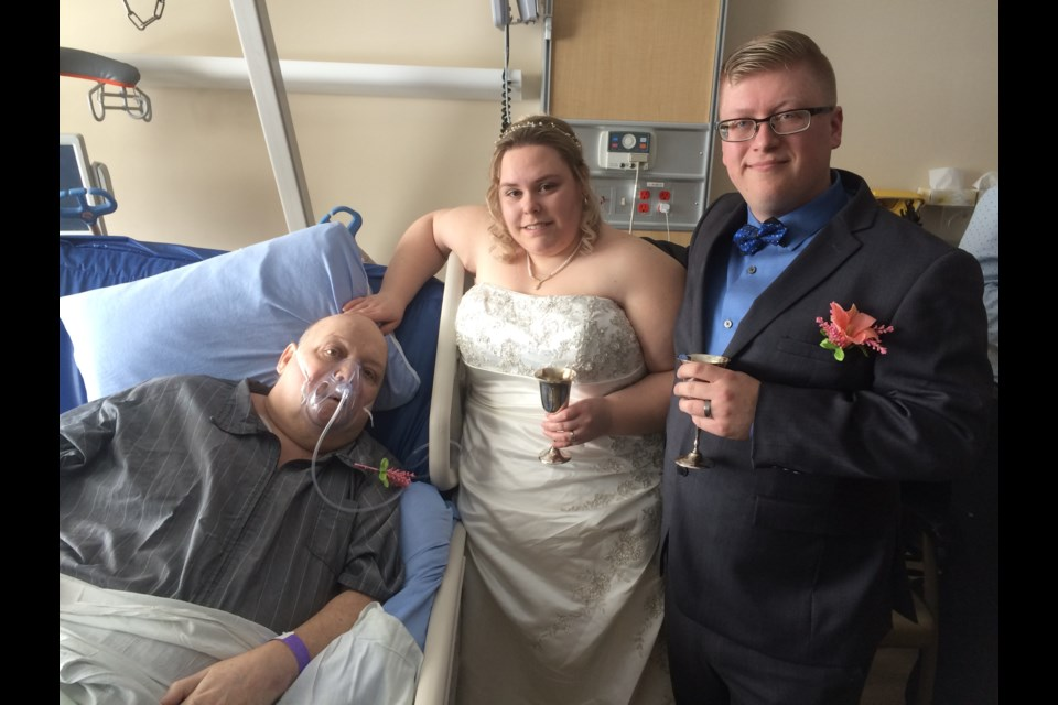 Tom Bell's wish is fulfilled. He got to witness his daughter's marriage to new son-in-law Nicholas Pilon.