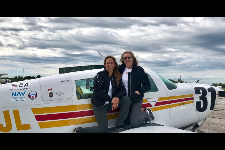 (l-r) Ottawa's Susan Begg and Niagar on the Lake's Asti Livingston are Canada's only team in the 43rd Annual Air Race Classic