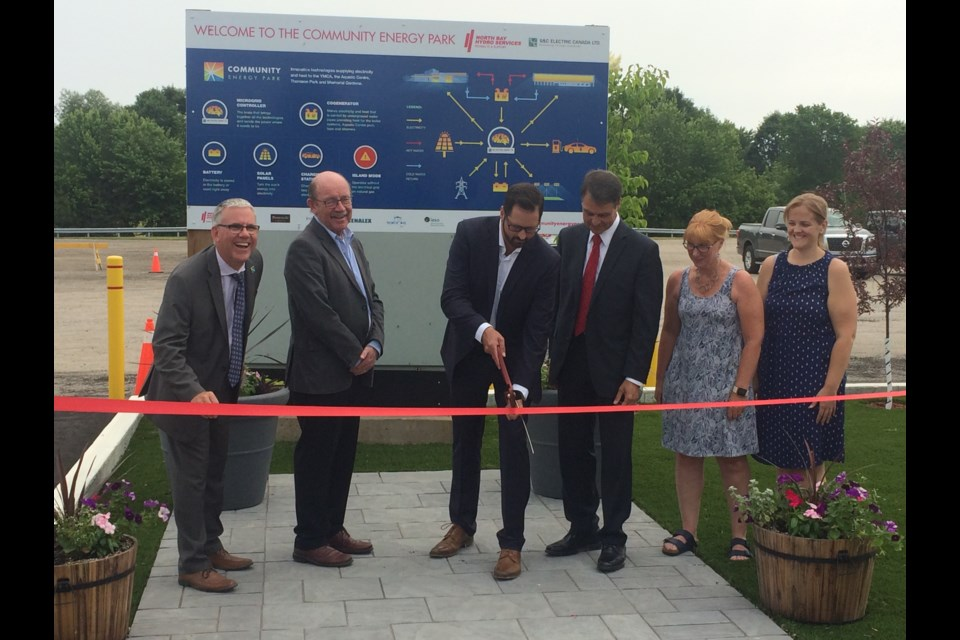 Official open of Canada's first utility-scale microgrid built in North Bay