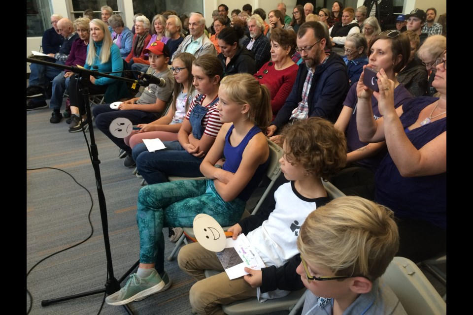 Children asked tough questions during all-candidates environment debate