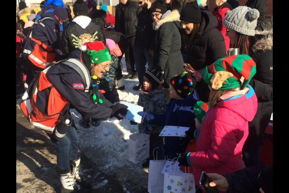 Canada Post employees picked up special letters addressed to Santa at the North Bay Santa Claus Parade