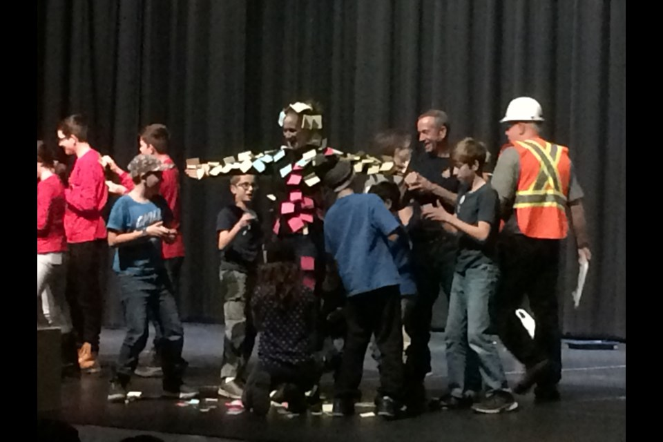 Having fun at the First Lego League closing ceremonies