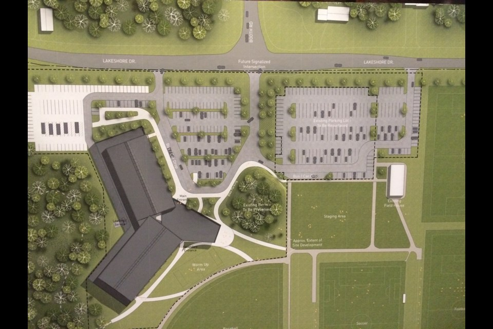 Trident design presented for new community center and arena to replace West Ferris arena.