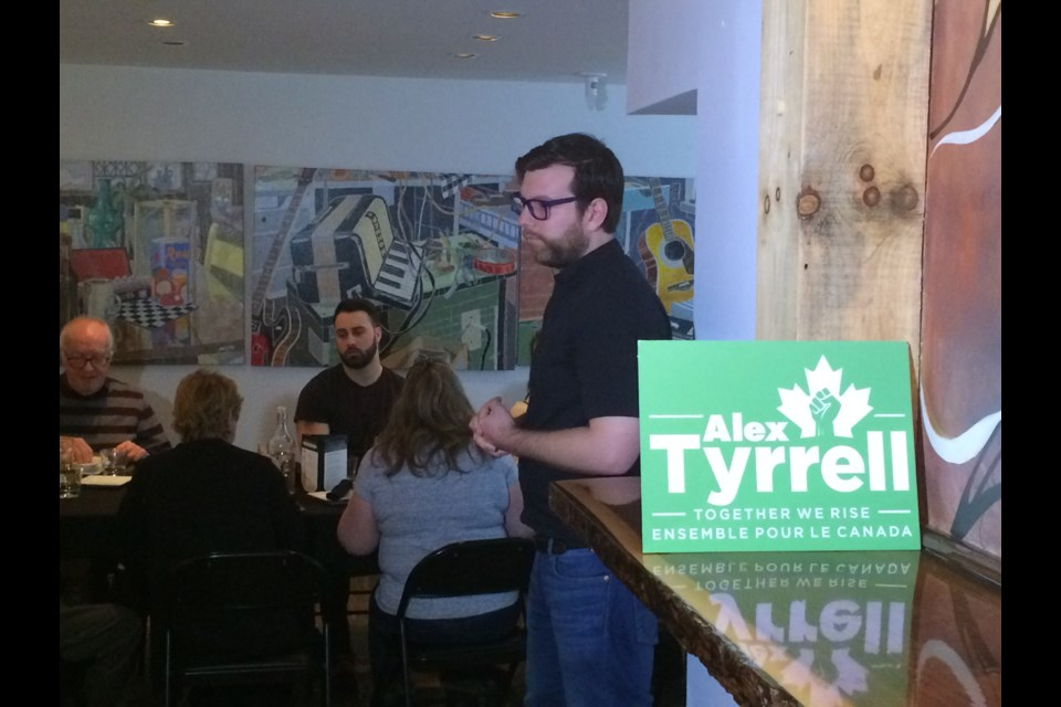 Green Party of Canada leadership candidate Alex Tyrrell is youngest leader of a provincial political party in Canada
