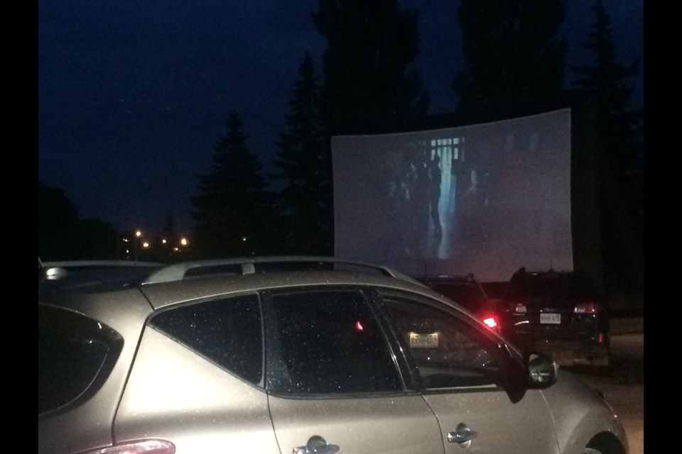 Weather lets up long enough for pop-up drive-in 
