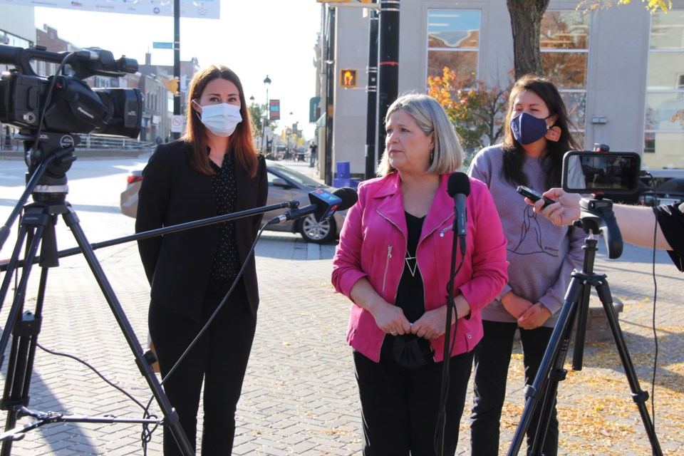 Andrea Horwath~North Bay~Oct 12 21~photo Angie Lall (2)