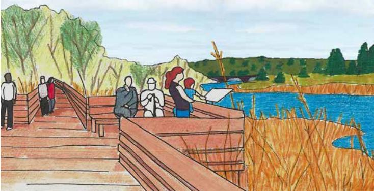Artist rendering of proposed Bonfield board walk ~ Image from Bonfield Township