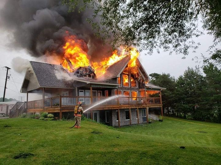 Bonfield house fire~ posted by Sylvain Foisy