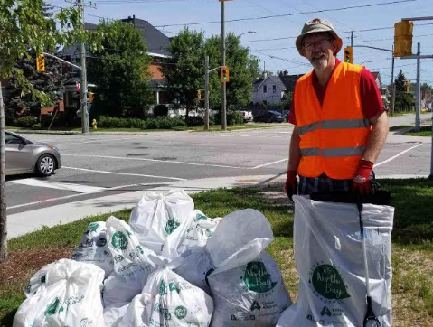 Ralph Celentano cleans up in the heart of the city.
