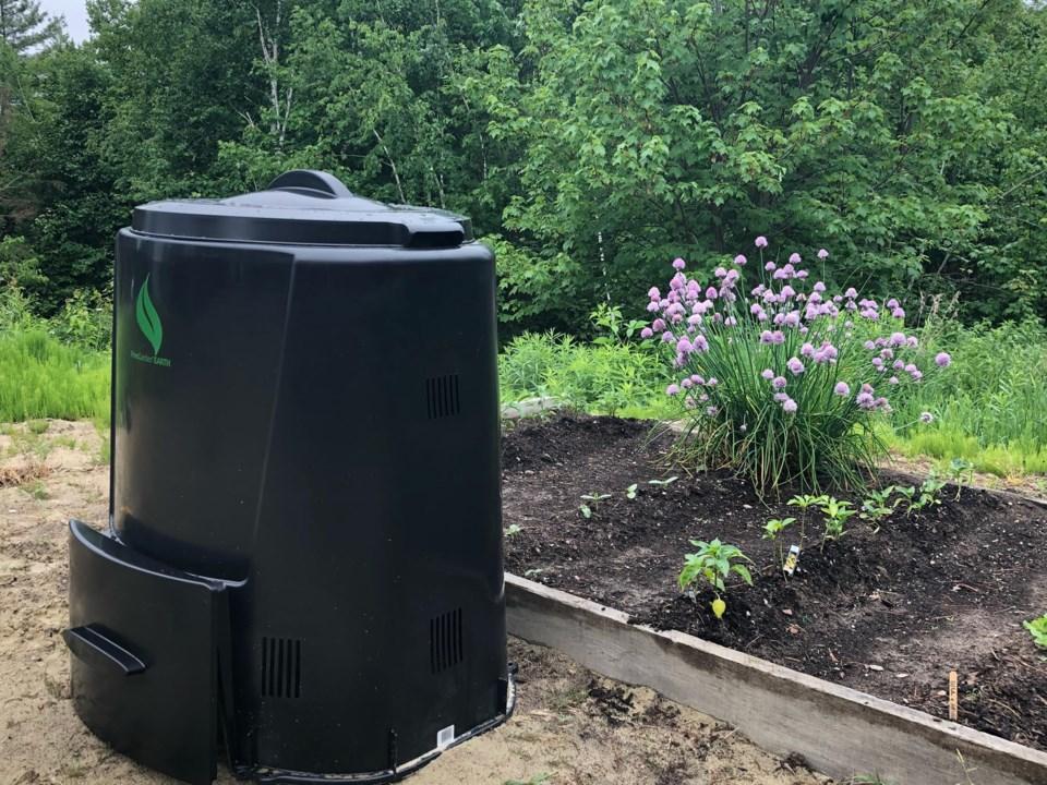 Compost bin~Nipissing First Nation~ June 11, 2021
