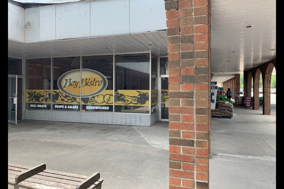 This former restaurant in Nipissing Plaza will be the home for North Bay's first cannabis store. Jeff Turl/BayToday.