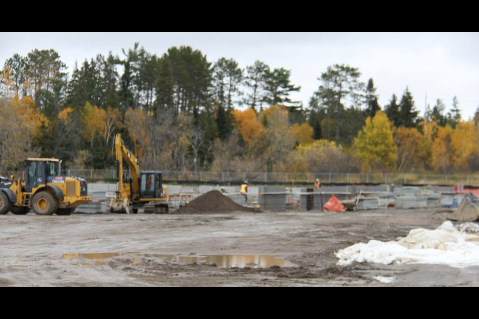 The foundation is in, ready for the steel framing at the Cascades Casino on Pinewood Park Drive.