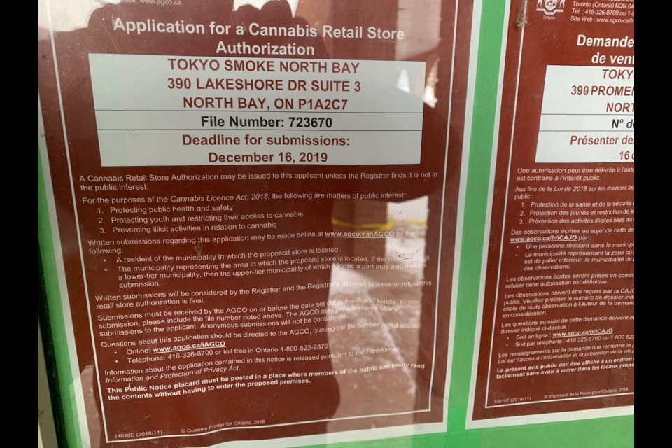 The Alcohol and Gaming commission is seeking public input into North Bay's cannabis store.