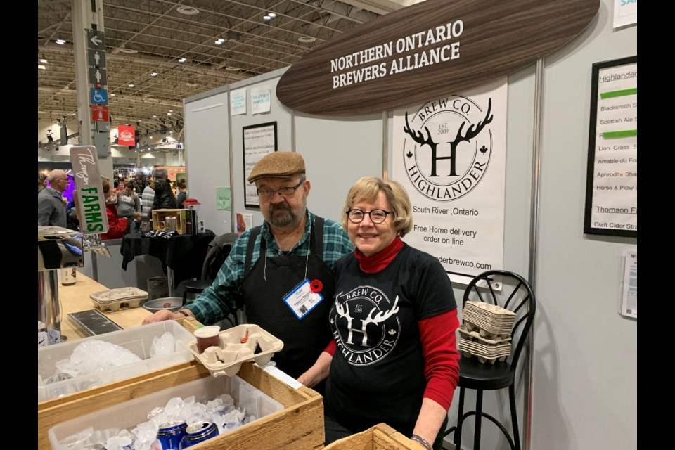 Dwayne Wanner and his wife, Judy, promote northern craft breweries at the Royal Winter Agricultural Fair in Toronto. (Jeff Turl/BayToday)