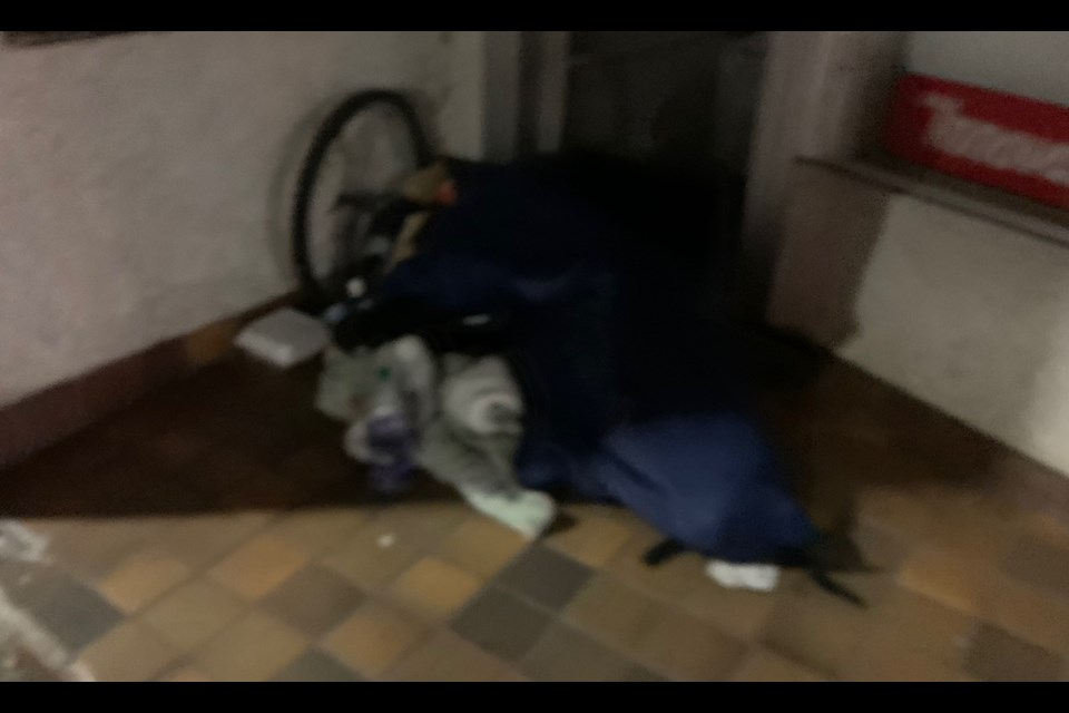 Homeless in North Bay are forced to seek shelter wherever they can find it.