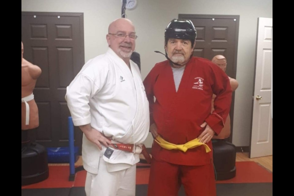 Kyoshi Chris Marceau and his student Chris Leblond.