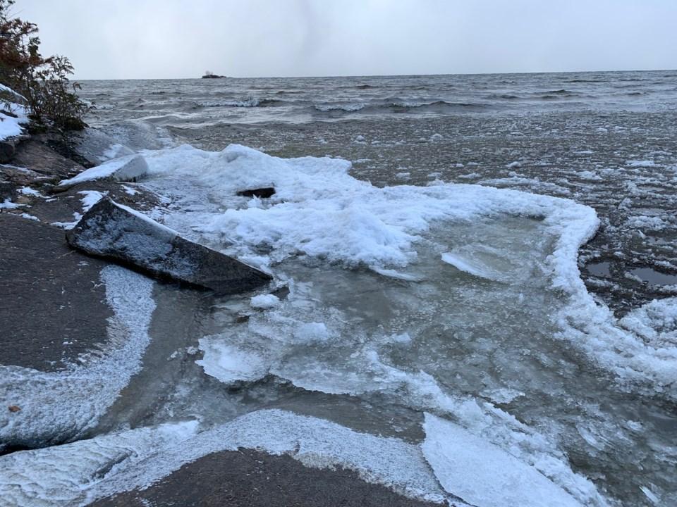 20191112 lake nipissing early ice
