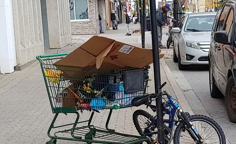 2020 09 30 Downtown North Bay Shopping Cart Homeless