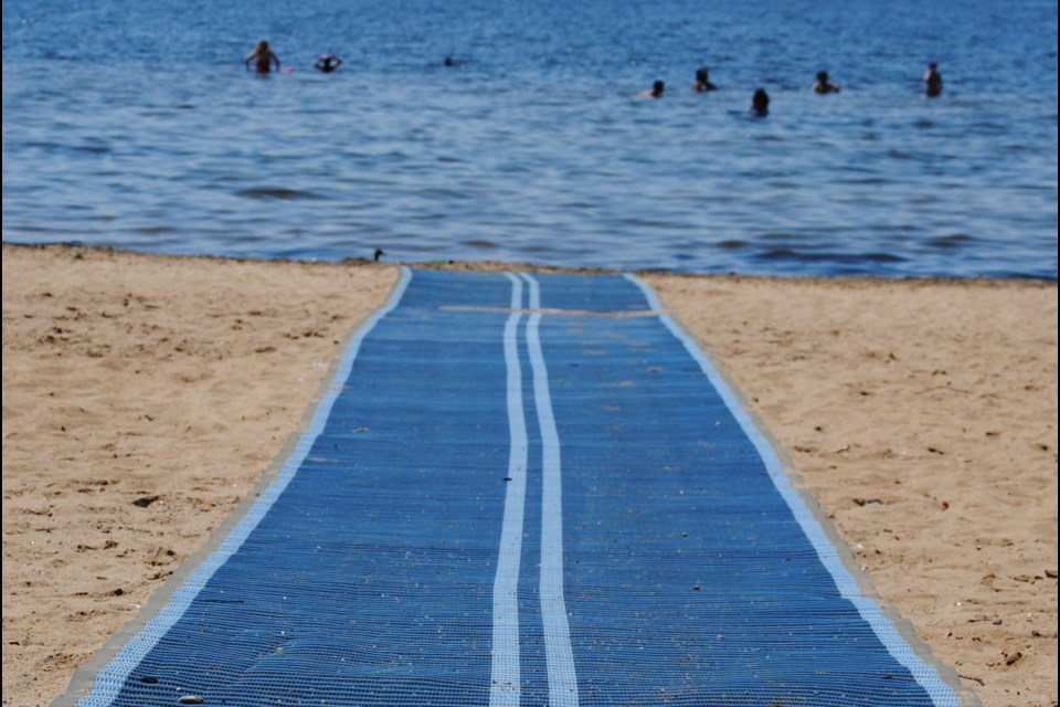 The Wheels to the Water accessible beach mat will be moved back to its original spot at Marathon Beach next summer.