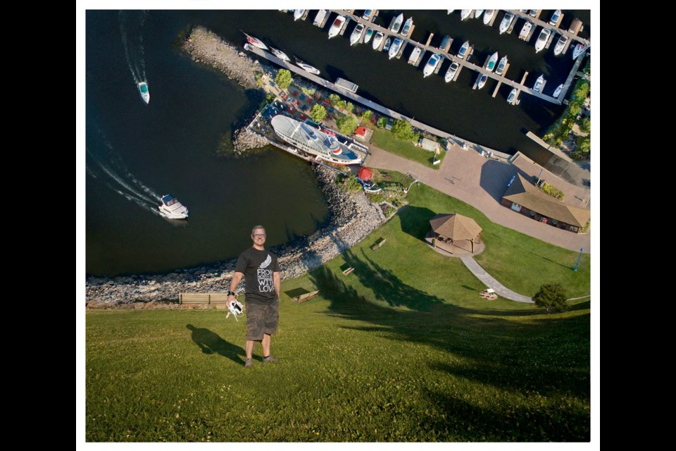Professional photographer Patrick Gilbert bends the waterfront.  Photo by Patrick Gilbert.