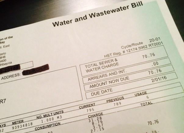 water bill turl 2016